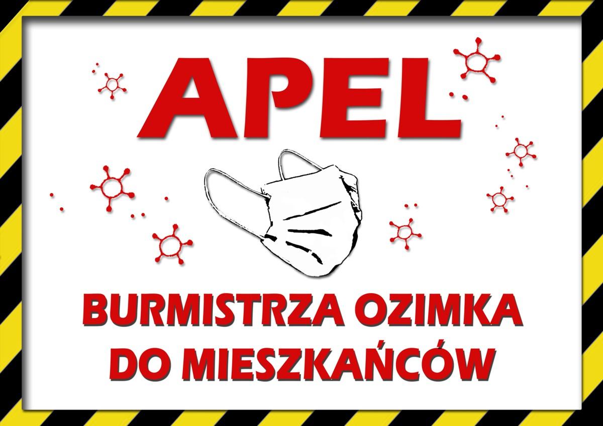 Apel Burmistrza Ozimka-wysłuchaj